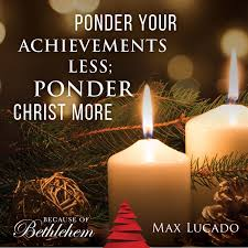 a book from max lucado because of bethlehem is