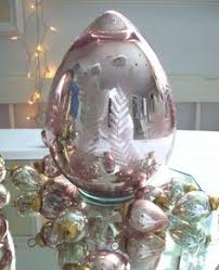 glass easter egg ornaments two large mercury glass kugel easter egg ornaments silver