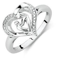 white silver rings images Mother child ring in sterling silver jpg