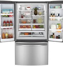 Stainless Steel Refrigerator French Door Bottom Freezer - ge 26 3 cu ft french door refrigerator gne26gsdss ge appliances