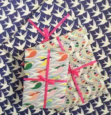 bird wrapping paper bird print wrapping paper gift wrap collection by elvira