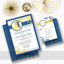 Fairytale Wedding Invitations Beauty And The Beast Wedding Invitations Disney Weddings