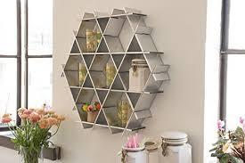amazon com kitchen floating shelves hexagon wall shelf coffee