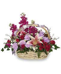 happy hugs basket flower arrangement just because flower shop