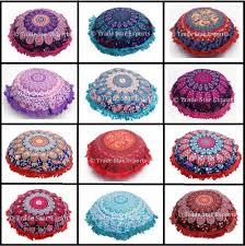 indian mandala fringe cushion cover 16