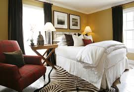 white bedroom with canary yellow curtains contemporary bedroom