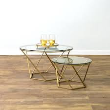 glass nesting coffee tables marble nesting coffee table modern classic white marble top round