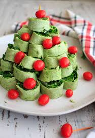 tree pita pinwheel appetizer spinach tortillas and