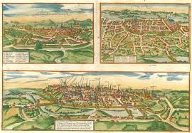 map of poitiers antique map of montpellier tours poitiers by braun hogenberg