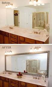 Frame Existing Bathroom Mirror How To Build A Wood Frame Around A Bathroom Mirror Bathroom