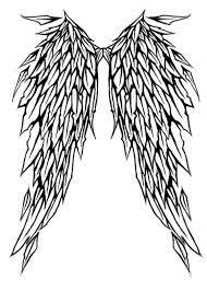 cross angel wing tattoos angel wings with halo drawings free download clip art free
