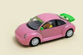 volkswagen new beetle pink volkswagen new beetle slot car portal com