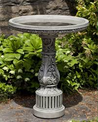 outdoor stone bird baths with beautiful details