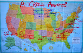 anerica map a cross america map longboarding and events offical