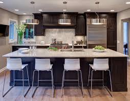 Dark Kitchen Cabinets Ideas by Dark Kitchen Cabinets With Light Granite Countertops Outofhome