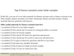 assistant cover letter top 5 finance assistant cover letter sles 1 638 jpg cb 1434700807