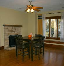 Ceiling Fan In Dining Room German Jello Salad Rustic Dining Table I Built From Free Plans A