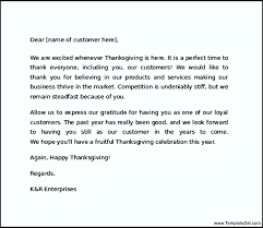 thanksgiving letter to customers ideas of thanksgiving letters