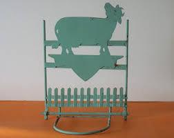 Flower Pot Holders For Fence - cow pot holder etsy