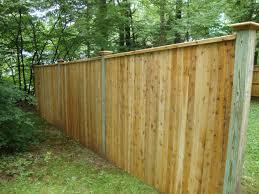 6 u0027 high traditional cedar board fence with pressure treated posts