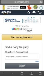 baby registries search are not thrilled about getting an email from about