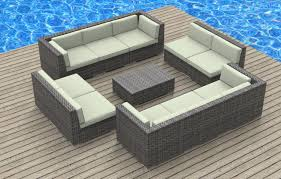 Patio Furniture Sectional Seating - outdoor patio wicker sofa set 5pc pe rattan rushreed 3 piece