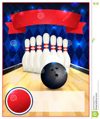 Ten Pin Bowling Sheet Template Blank Bowling Flyer Template Illustration Stock Vector Image