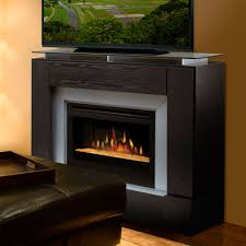 contemporary electric fireplace tv stand furnitech ft64cfb 66