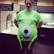 Monster Inc Halloween Costumes Pregnant Halloween Costume Monsters Inc Mike Wazowski Pregnant