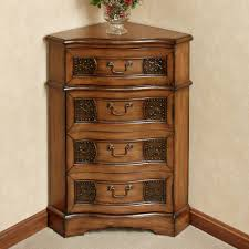 Accent Table Decor Cadiz Wooden Corner Accent Cabinet