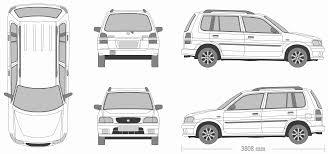 mazda demio mazda demio 1999 blueprint download free blueprint for 3d modeling