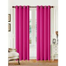 1 panel mira solid pink semi sheer window faux silk antique