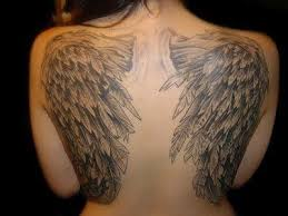 wing tattoos across the shoulders and back tattoo articles