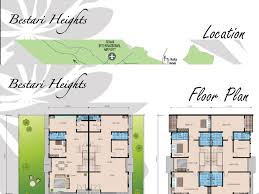 cluster home floor plans bestari heights link semi detached houses at bukit indah nusajaya