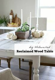 Dining Room Wood Tables Whitewashed Reclaimed Wood Dining Table Satori Design For Living