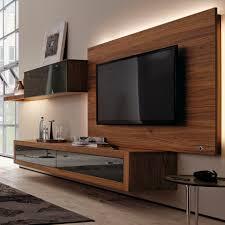 contemporary tv wall unit walnut lowboard xelo hülsta