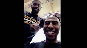 kyrie irving says iman shumpert has 4 more days with that haircut