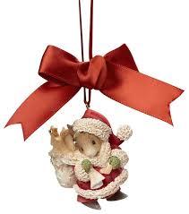 enesco of santa mouse ornament traditional