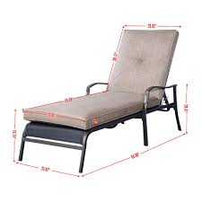 Chaise Outdoor Lounge Chairs Gym Equipment Outdoor Patio Adjustable Cushioned Pool Chaise