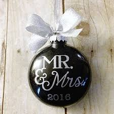 personalized christmas ornaments wedding our christmas as mr and mrs ornament newlywed ornament 2016