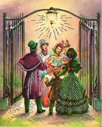 335 best old christmas post сards u2014 christmas carolers images on