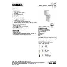 Kohler Toilet Seat Colors Kohler K 3946 0 Adair White One Piece Elongated Bowl Toilets