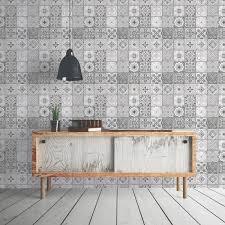 papier peint intissé pour cuisine papier peint intissé carreau ciment gris leroy merlin