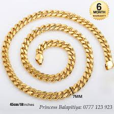 gold earrings price in sri lanka the offer gold plated flat chain 22k gold plated men