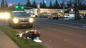 motorcyclist injured in collision with car in kent komo