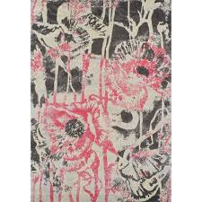 Floral Area Rug Addison Platinum Collection Pink Grey Artistic Floral Area Rug 9