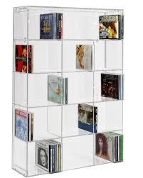 sora acrylic cd rack with transparent back panel amazon co uk