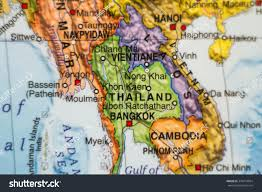 Map Of Thailand Photo Map Thailand Capital Bangkok Stock Photo 370274054
