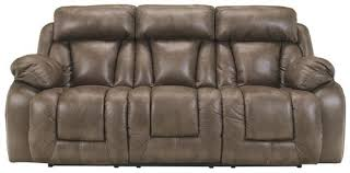 Faux Leather Recliner Ashley Furniture Loral Sable Contemporary Faux Leather Reclining