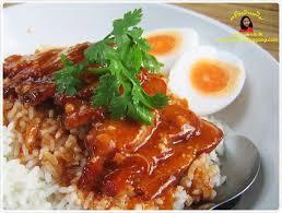 recett de cuisine ข าวหม แดง คร วบ านพ ม roast pork w rice food stuff